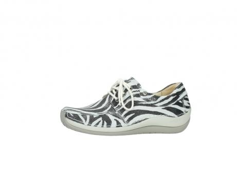 wolky veterschoenen 4800 coral 912 zebraprint metallic leer_24