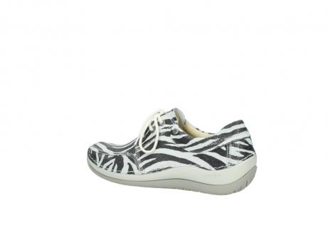wolky veterschoenen 4800 coral 912 zebraprint metallic leer_3