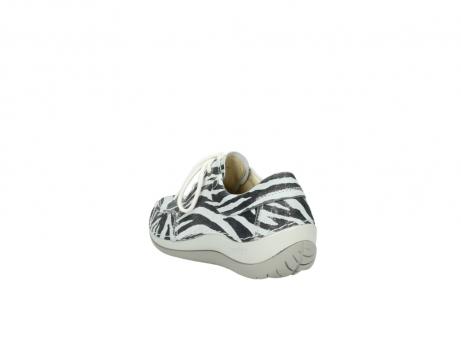wolky veterschoenen 4800 coral 912 zebraprint metallic leer_5