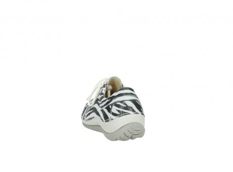 wolky veterschoenen 4800 coral 912 zebraprint metallic leer_6