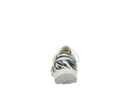 wolky veterschoenen 4800 coral 912 zebraprint metallic leer_7