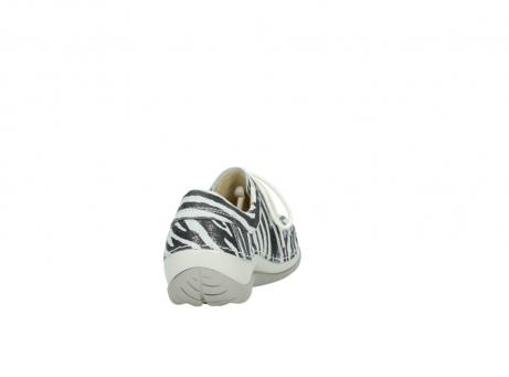 wolky veterschoenen 4800 coral 912 zebraprint metallic leer_8