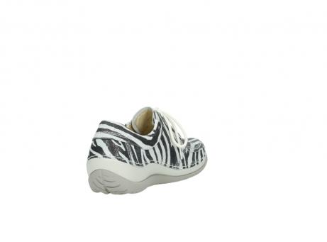 wolky veterschoenen 4800 coral 912 zebraprint metallic leer_9