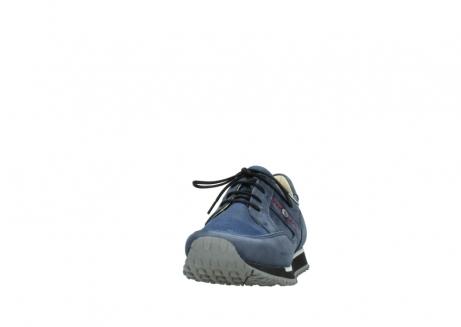 wolky veterschoenen 5800 e walk 280 donkerblauw nubuck_20