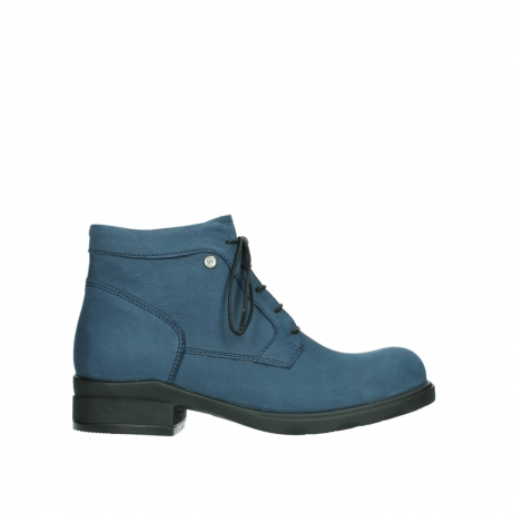wolky lace up boots 02630 seagram xw 13800 blue nubuckleather
