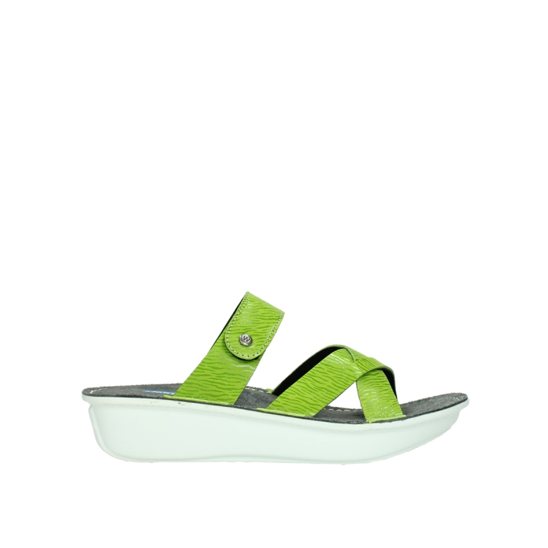 Wolky Slippers 00878 Barbados - 70750 lime leer