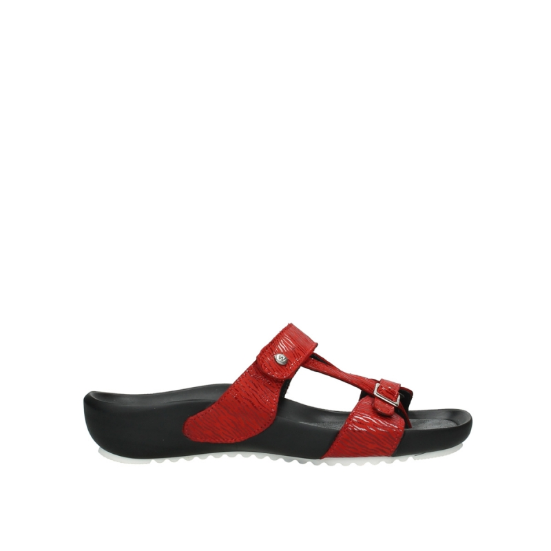 Wolky Slippers 01002 O'Leary - 70500 rood canals leer