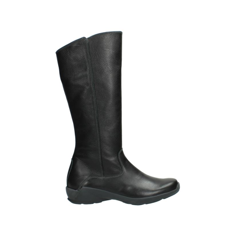 Wolky Laarzen 01575 Gelsa - 30001 zwart leer