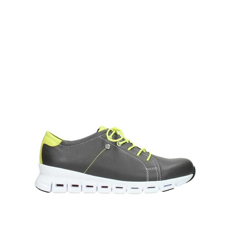 Wolky Sneakers 02051 Mega - 20219 antraciet-geel leer