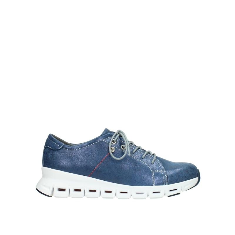 Wolky Sneakers 02051 Mega - 70800 blauw leer