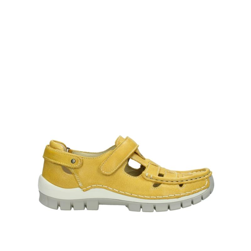 Wolky Bandschoenen 04703 Move - 30900 geel leer