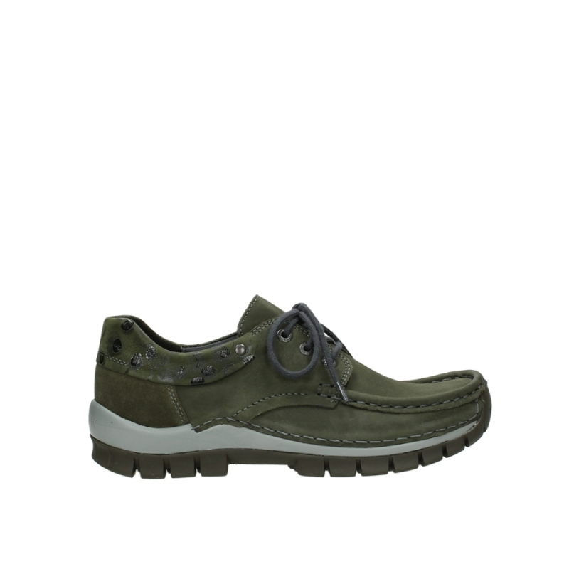 Wolky Veterschoenen 04726 Fly winter - 59730 forestgroen leer