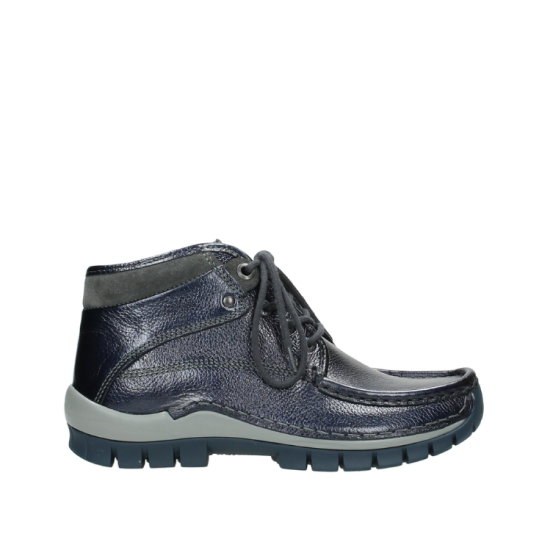 Wolky Veterschoenen 04728 Cross Winter - 81800 blauw metallic leer