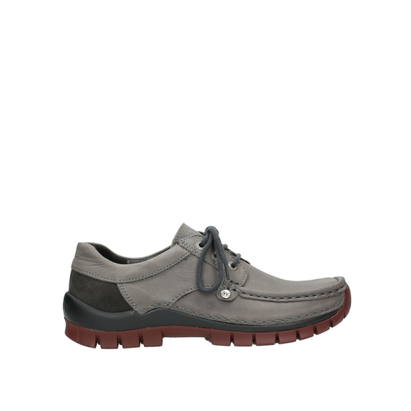 Wolky Veterschoenen 04734 Seamy Fly Winter - 11205 donkergrijs nubuck
