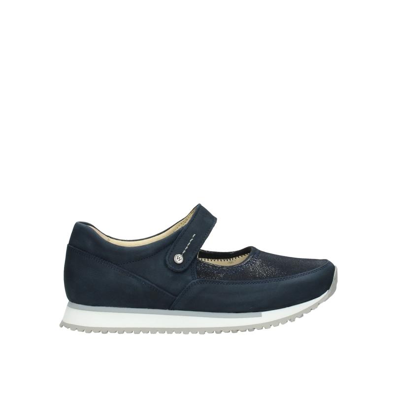 Wolky Bandschoenen 05805 e-step - 11800 blauw stretch nubuck