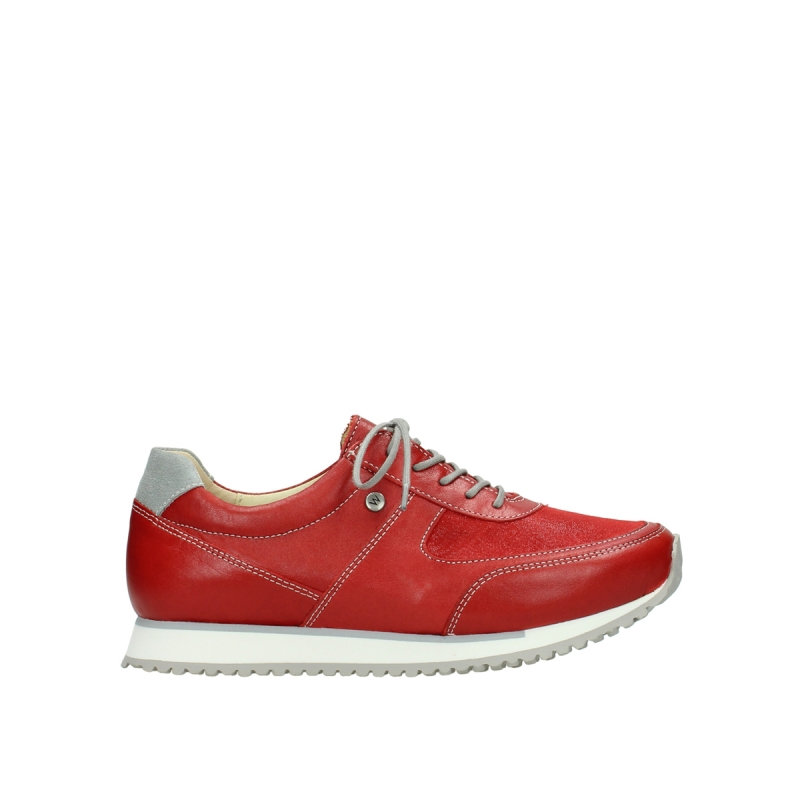 Wolky Sneakers 05806 e-sneaker - 70500 rood stretch leer