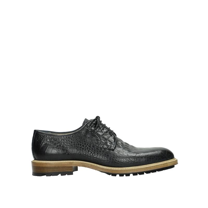 Wolky Veterschoenen 09403 Turin - 90000 zwart croco leer