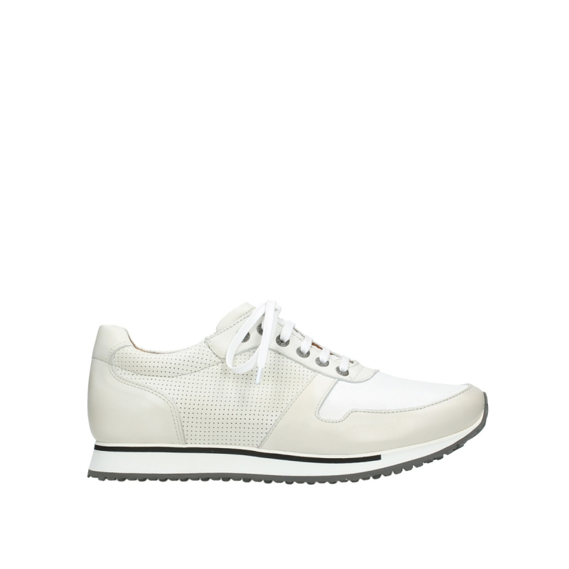 Wolky Veterschoenen 05850 e-Walk Men - 20120 gebroken wit stretch leer