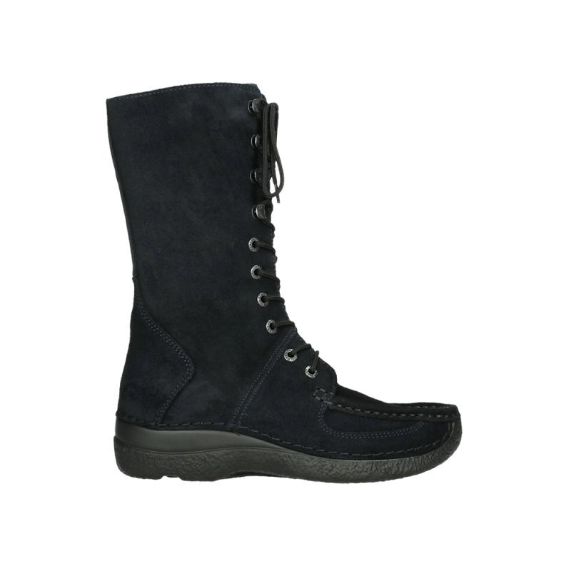 Wolky Halfhoge laarzen 06210 Roll Fashion - 40800 donkerblauw geolied suede