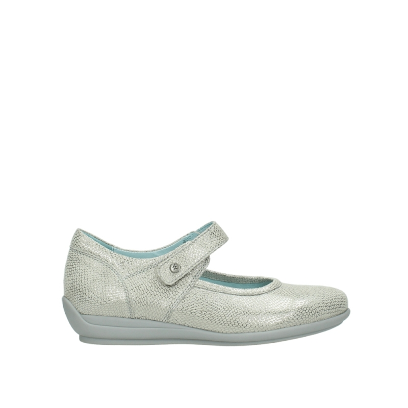 Wolky Bandschoenen 00385 Noble - 20120 gebroken wit/zilver geprint leer