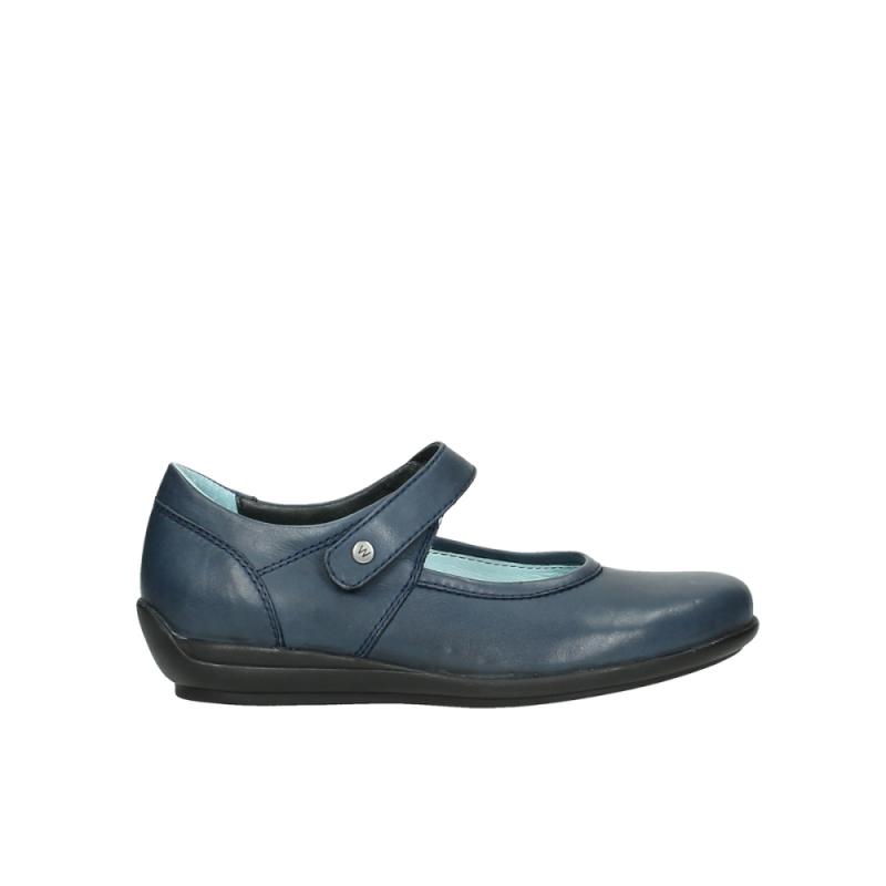 Wolky Bandschoenen 00385 Noble - 30800 blauw leer