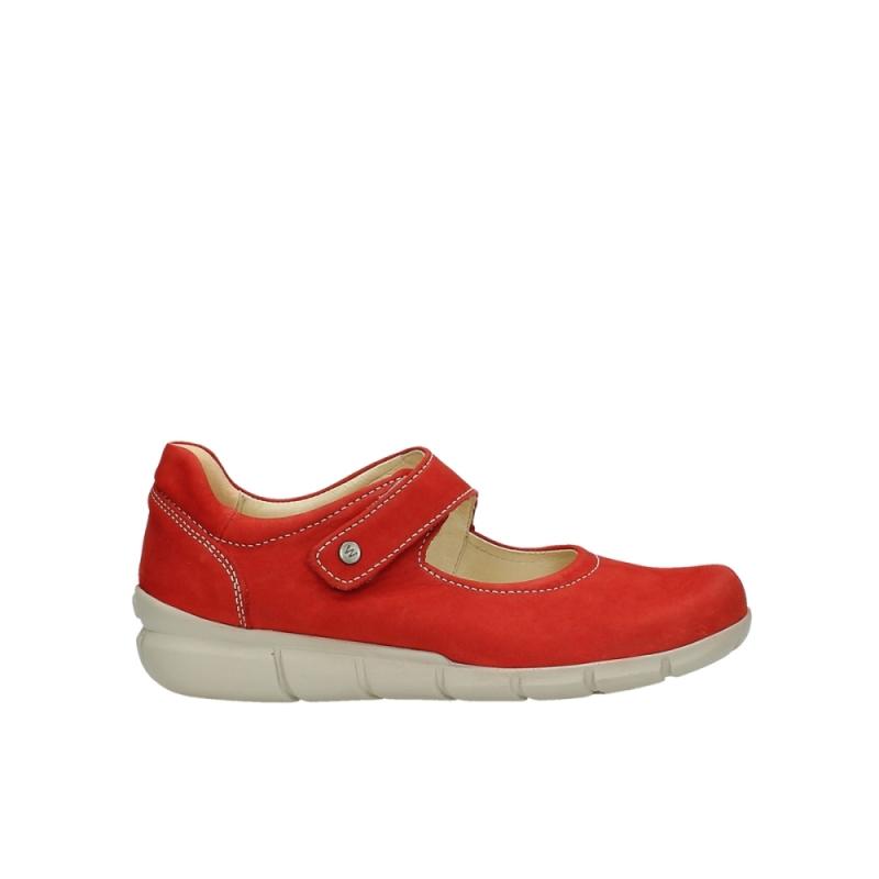 Wolky Bandschoenen 01508 Kiowa - 10570 rood nubuck