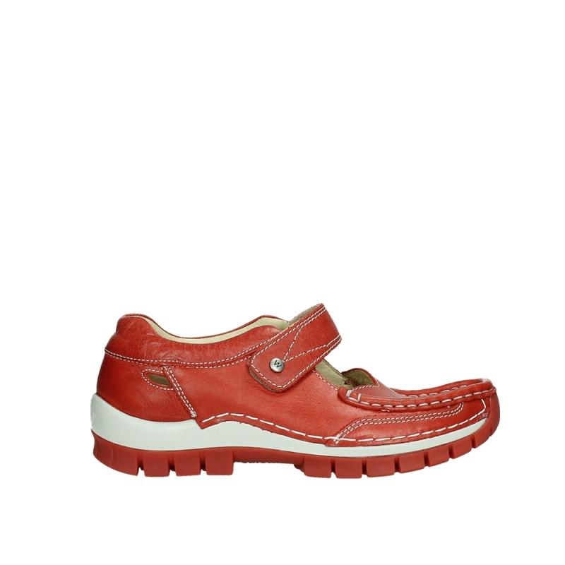 Wolky Bandschoenen 04709 Step - 35526 scarlet rood leer