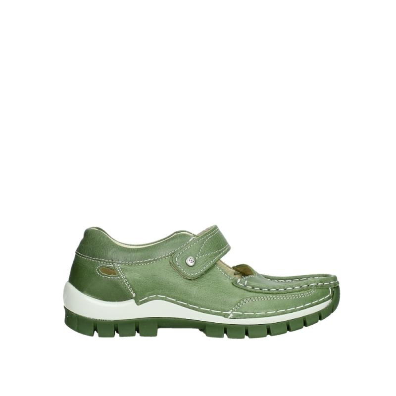 Wolky Bandschoenen 04709 Step - 35735 groen leer