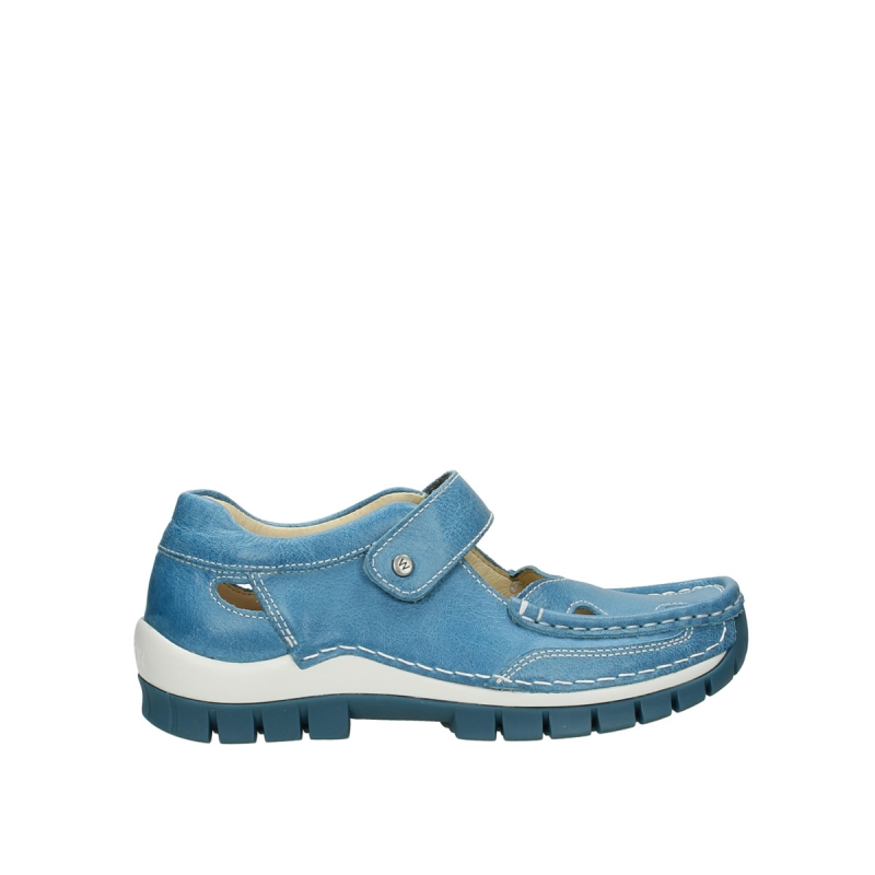 Wolky Bandschoenen 04709 Step - 35815 lichtblauw leer