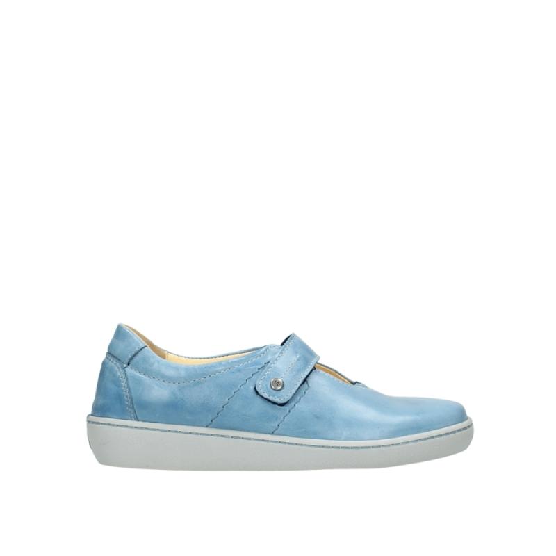 Wolky Bandschoenen 08129 Olympus - 30820 denim blauw leer