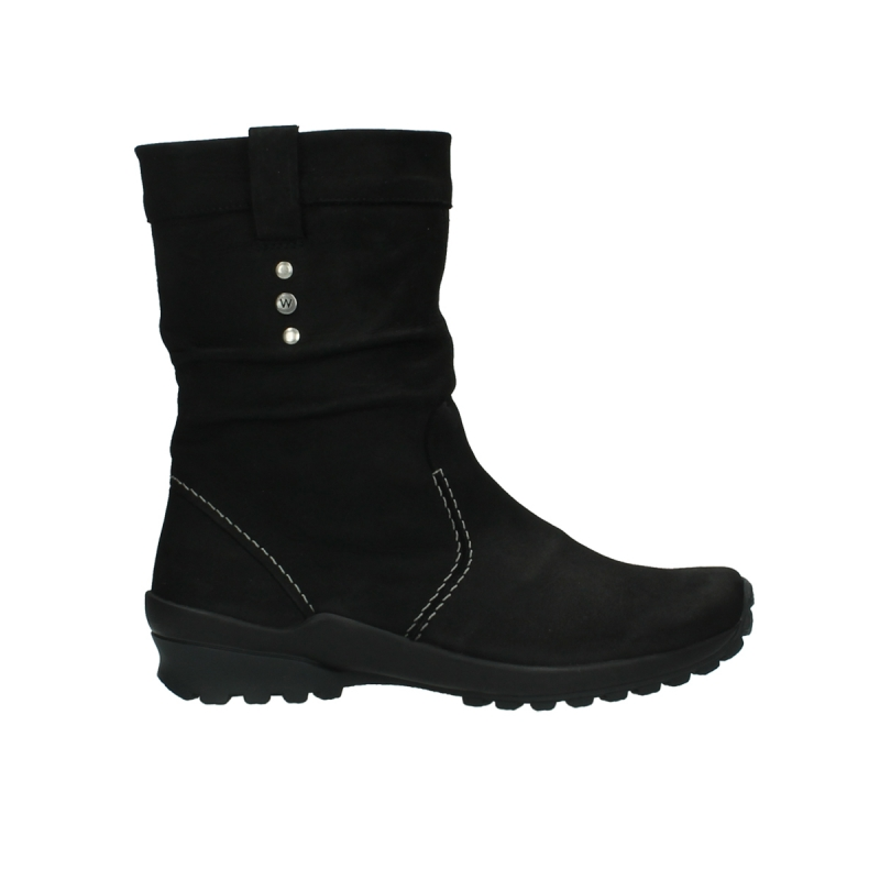 Wolky Halfhoge laarzen 01736 Bryce CW - 50000 zwart geolied leer / Cold Winter Vachtvoering