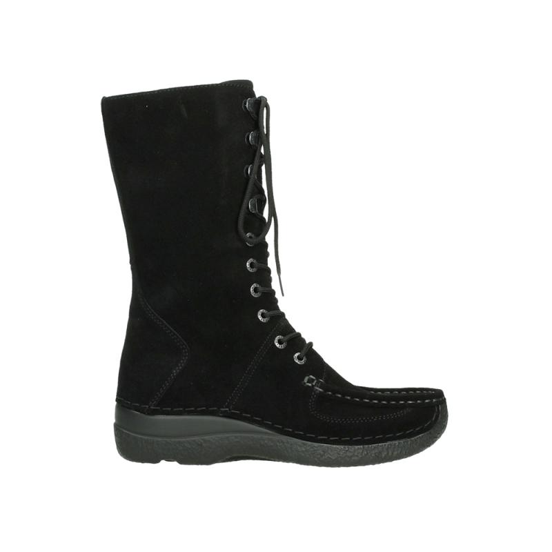 Wolky Halfhoge laarzen 06210 Roll Fashion - 40000 zwart geolied suede