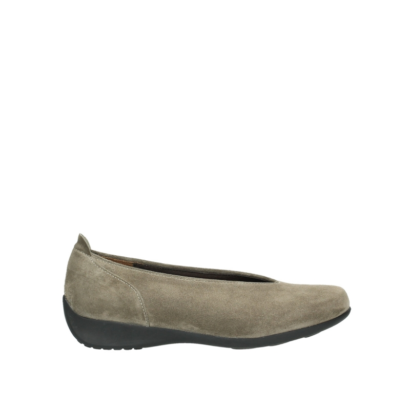 Wolky Ballerina's 00359 Ballet - 40150 taupe suede
