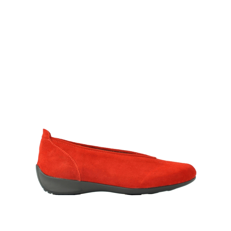 Wolky Ballerina's 00359 Ballet - 40500 rood suede