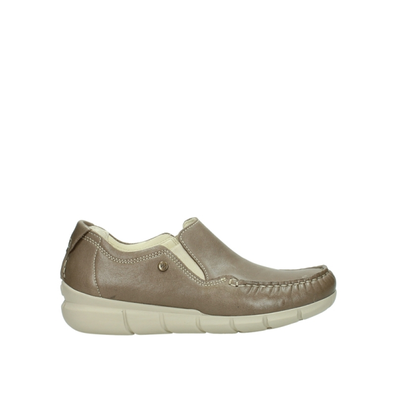 Wolky Instappers 01511 Sekani - 70150 taupe leer