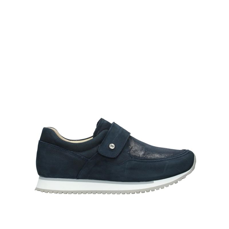 Wolky Bandschoenen 05807 e-Strap - 11800 blauw nubuckstretch