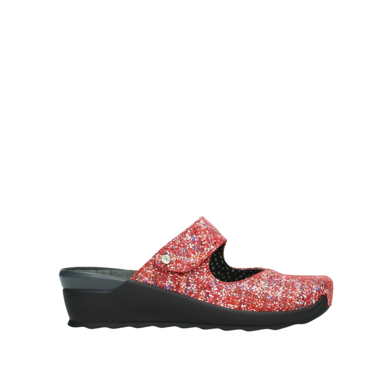 Wolky Klompen 02576 Up - 40950 rood multi suede