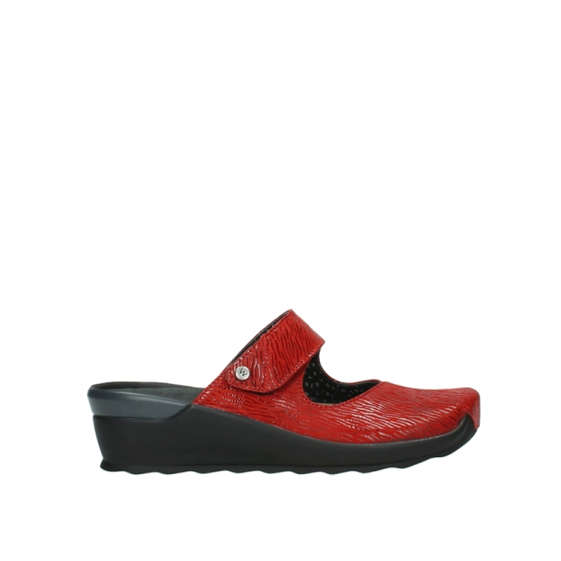 Wolky Klompen 02576 Up - 70500 rood canals