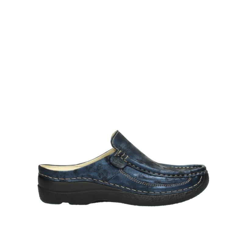 Wolky 06202 Roll Slide - 10823 marineblauw metallic nubuck