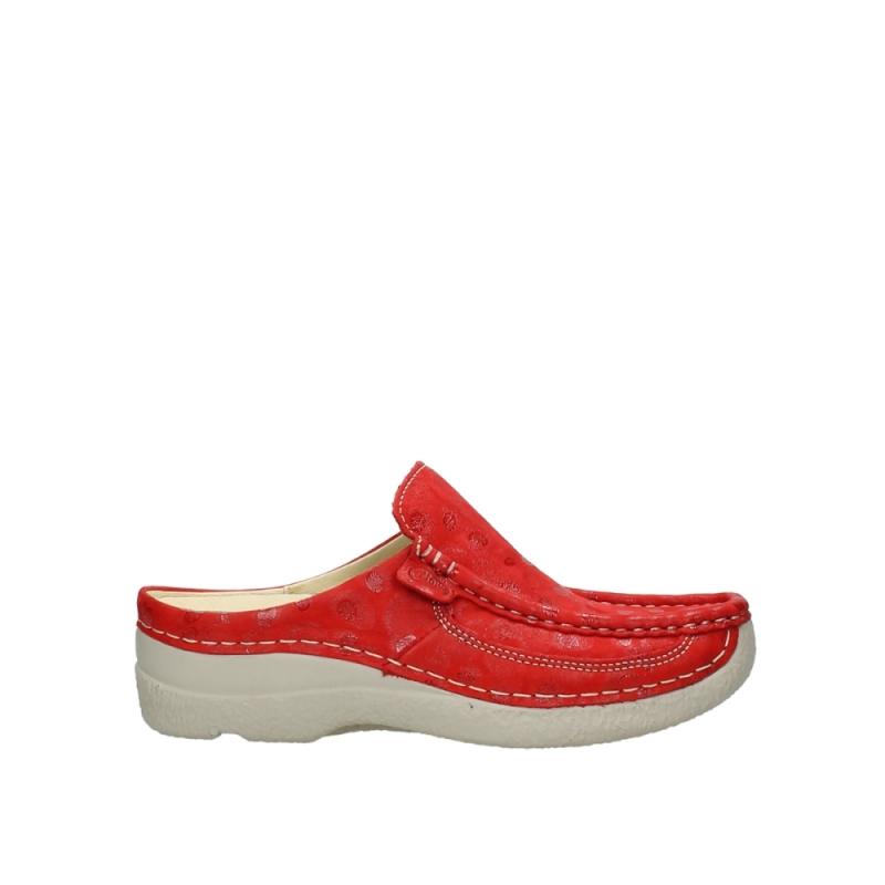 Wolky 06202 Roll Slide - 12570 rood nubuck