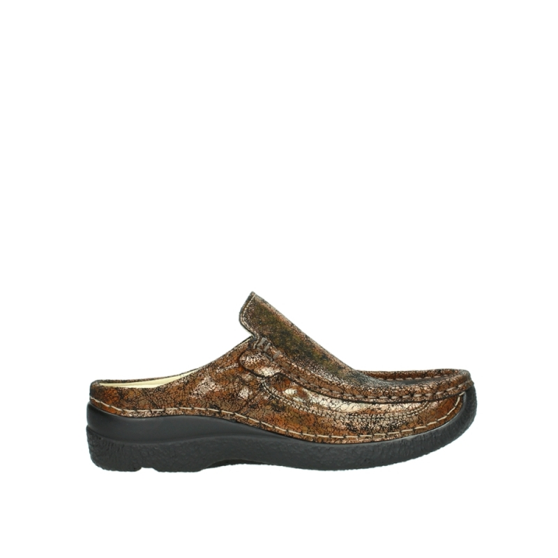 Wolky 06202 Roll Slide - 40320 brons geprint suede