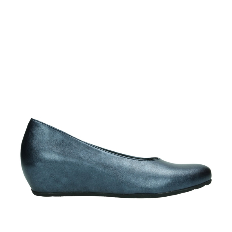Wolky ballerinas 01910 Capella - 90800 blauw metallic leer