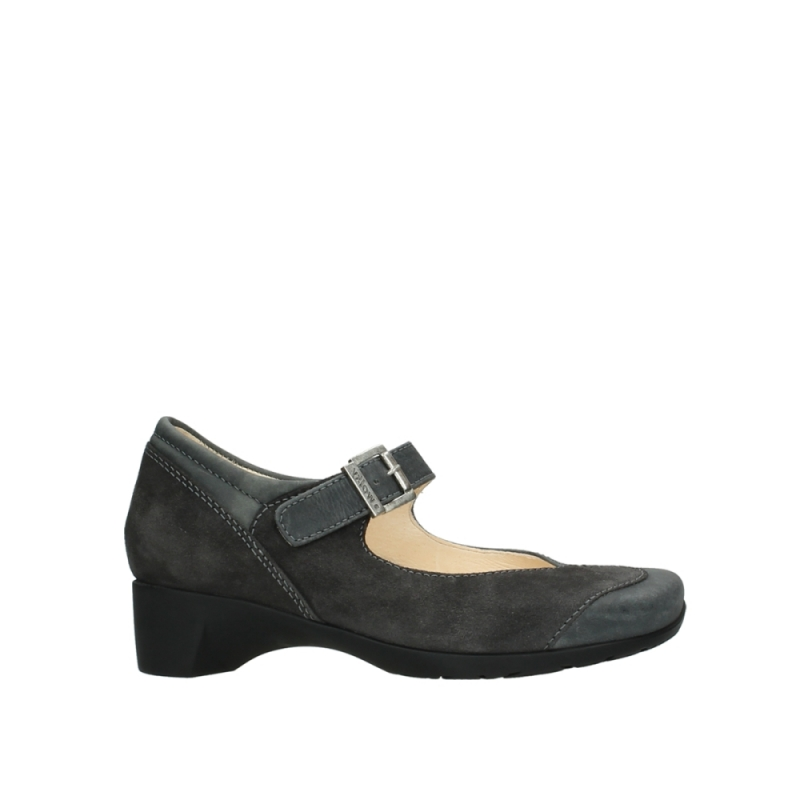 Wolky Pumps 07808 Opal - 80210 antraciet ascot leer