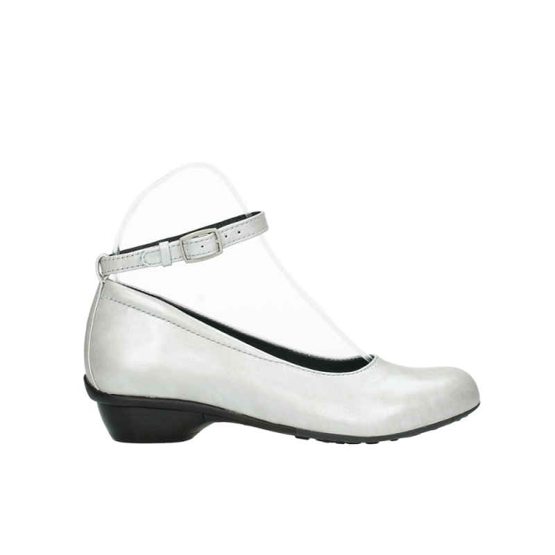 Wolky ballerinas 07952 Monelli - 90190 parelwit metallic leer