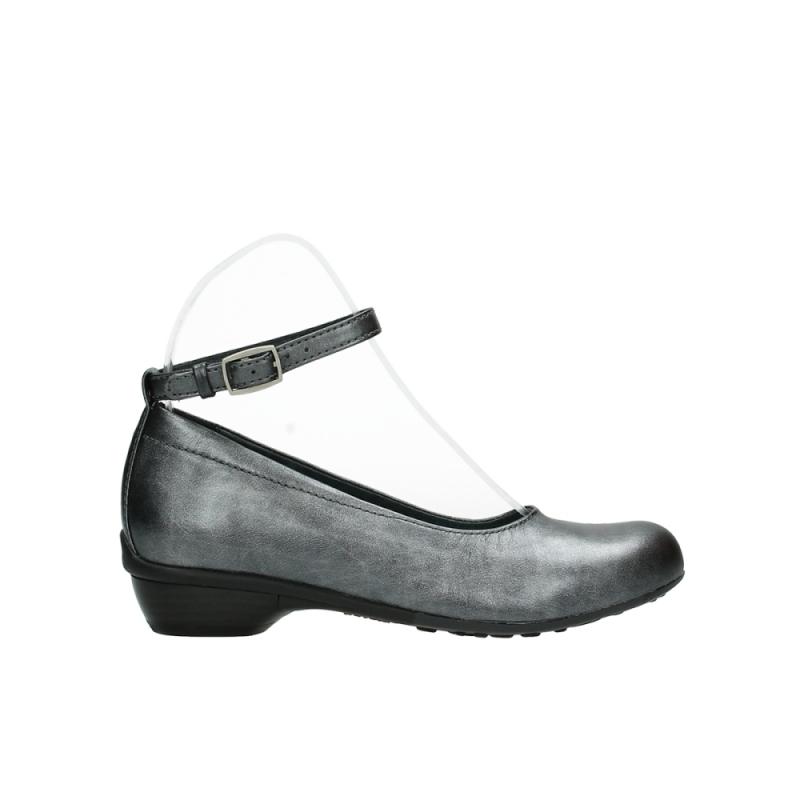Wolky ballerinas 07952 Monelli - 90280 grijs metallic leer