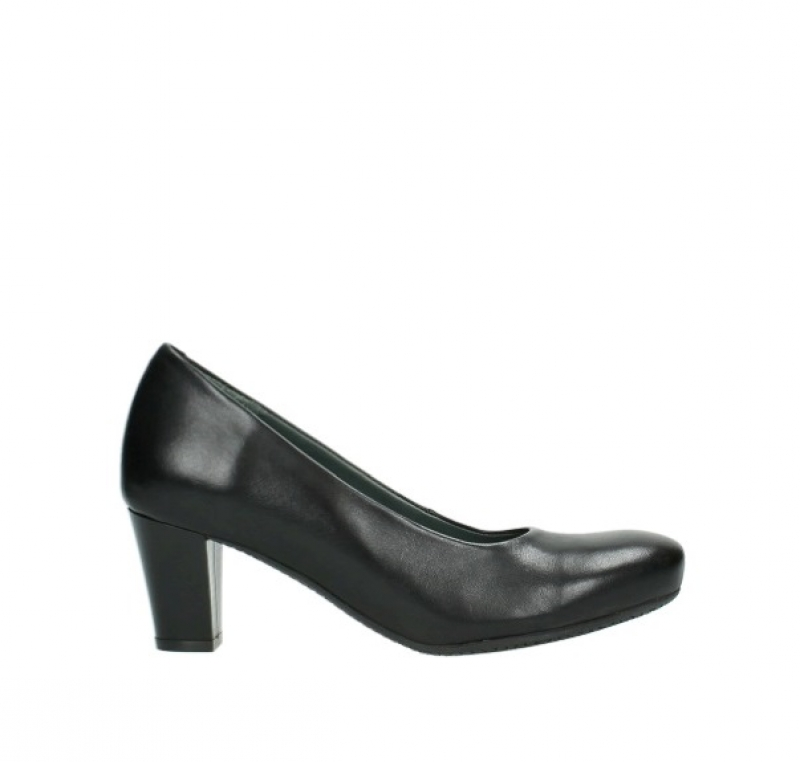 Wolky Pumps 09989 City - 20000 zwart leer