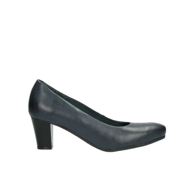 Wolky Pumps 09989 City - 20800 blauw leer