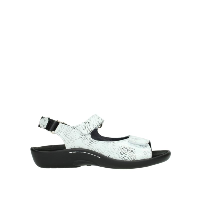 Wolky Sandalen 01300 Salvia - 70110 wit zwart nubuck