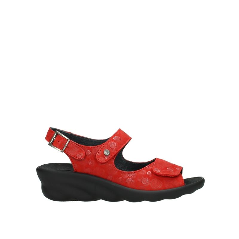 Wolky Sandalen 03125 Scala - 12500 rood nubuck