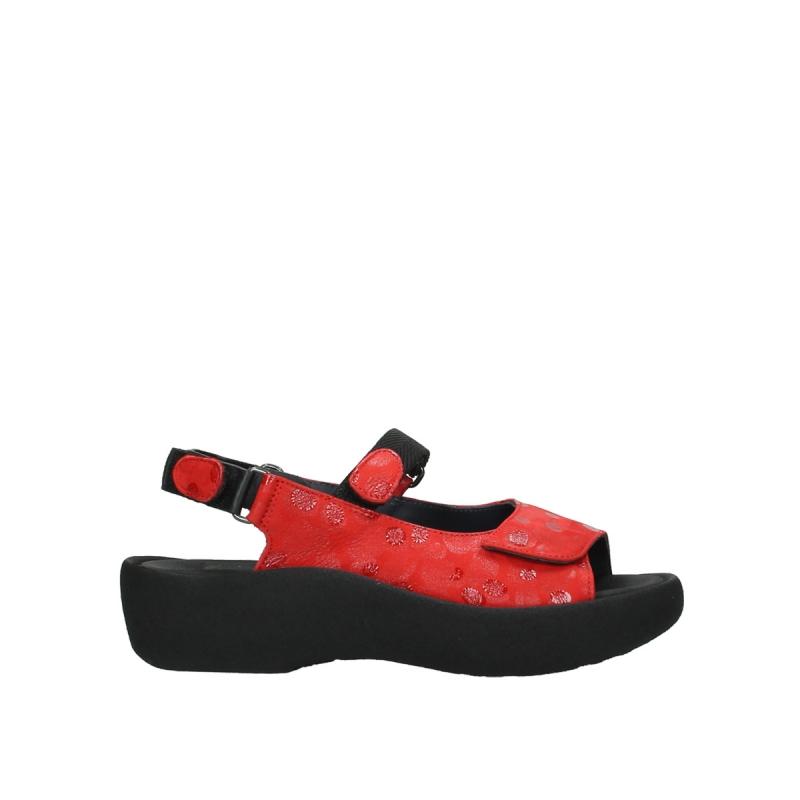 Wolky Sandalen 03204 Jewel - 12500 rood nubuck